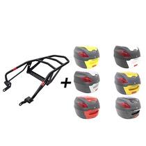 Kit Tenere 250-bagageiro Givi+ Bau Proos 41l Na Cor Da Moto