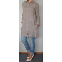 Camisa Larga Mujer Pantalon Elastizado Calza Jean Remera