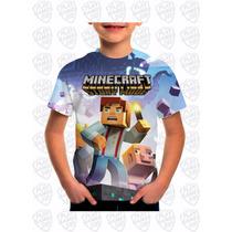 Camiseta Minecraft Story Mode Infantil Estampa Total