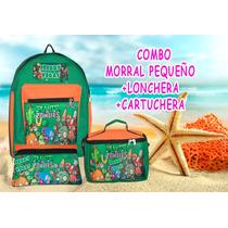 Morral Bolso Escolar+lonchera+cartuchera Combo