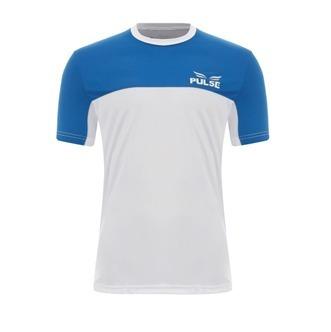 95738f894 Camiseta Pulse Grupo Everlast Dual Color Branco azul - R  34