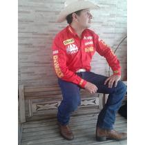 Camisa Rodeio Stanley Dwalt Brahma Wrangler Vermelha