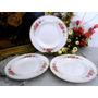 Juego 6 Platos Hondos Porcelana Hartford Bone China 22.5 Cm