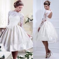 Vestido Fiesta - Casamiento Blanco Natural Talle S