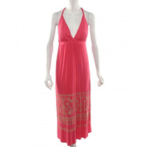 Vestido Color Coral Sin Marca Visible