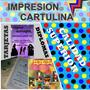 Impresión Cartulina Reconocimiento Diploma Certificado Color