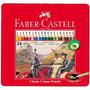 Lapiz Faber Castell Original Lata X24 Lapices Colores Largos