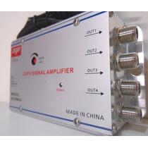 Amplificador De Señal Catv 30db 4 Salidas Distribuidor Cable