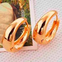 Aretes Argollas Oro Laminado De 9k De 20mm