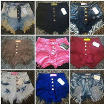 Kit 4 Shorts Jeans Estilo Pitbull Anita Hot Pants Modelos