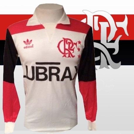 14b0cb897f207 Camisa Retrô Flamengo Ml Lubrax 1992 Away - R  139