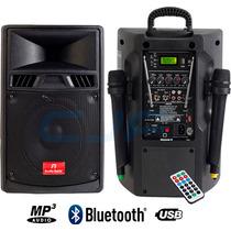 Bafle Potenciado Usb Bluetooth 2mic Inalamb. Bateria 12v 220