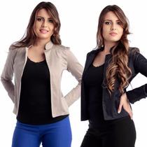 Casaco Casaquinho Feminino Sarja Blusa Blazer
