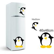 Adesivo Decorativo Pinguins Geladeira Cozinha Freezer Parede