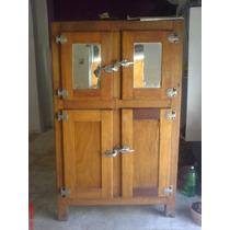 Geladeira Madeira Antiga, 4 Portas Impecavel, Restaurada