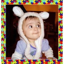 Gorro De Bebé Con Orejas - Corderito