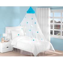 Pabellon Decorativo Azul Star Para Niños Anti Mosquitos
