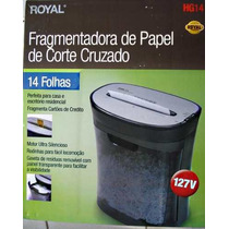 Fragmentadora Trituradora Picotadora De Papel, Cd, Royal