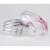 Armação 9 Cores Sem Aro P/ Óculos De Grau Em Titânio Memory