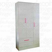 Placard Ropero 3 Puertas Y Dos Cajones Lustrado Mosconi
