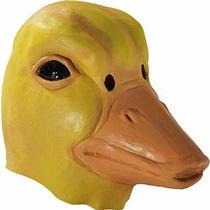 Deluxe Adultos Látex Máscara Animal: Pato Amarillo