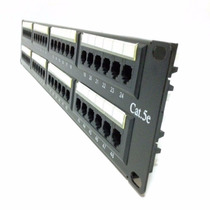 Patch Panel 48 Puertos Cat5e Rack Red Redes Bandeja Switch