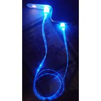Cable Usb Luminoso Samsung, Motorola, Alcatel, Huawei, Etc