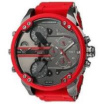 Relógio Masculino Diesel Dz7370 Grande Vermelho +caixa.