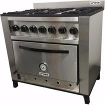Cocina Industrial De Acero Esmerilado 6 Horn 92cm Pyfer