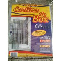 Cortina Para Banheiro Box Cristal 2m X 1,38m 8 Ganchos