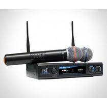 Microfone S/fio Duplo Uhf Tsi Tsi-ud-800
