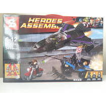 Lego Super Heroe Vingadores Capitão América Marvel 341 Peças