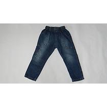 Calça Infantil Jeans Meninos Lavada Cós E Elástico