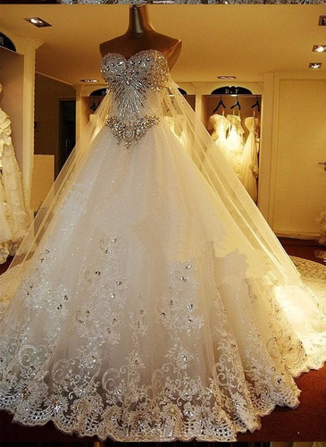 Vestido De Boda De Novia Con Pedreria Envio Gratis !!! - $ 7,500.00 ...