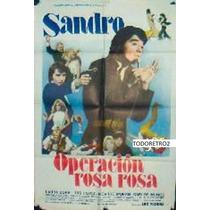 Afiche Operación Rosa Rosa Sandro, Laura Bove 1974