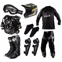 Kit Equipamento Roupa Piloto Motocross Trilha Pro Tork Cores
