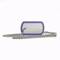 Memoria De 8 Gb Dog Tag Usb Drive Violet
