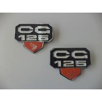 Emblema Tampa Lateral Cg 76 A 82 Asa Honda Laranja (par)