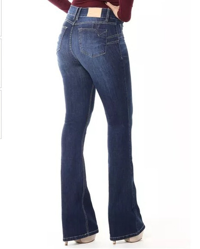 dbb4f42f8 Calça Sawary Jeans Flare Levanta Bumbum Cintura Alta - R$ 89,90 em Mercado  Livre