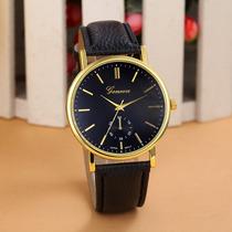 Relógio Geneva Social Masculino Quartz Original Frete Grátis