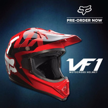 Casco Cross Fox Vf1 Motocross Enduro Atv Rojo 2017 Fas Motos
