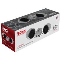 Bocinas Para Moto Boss Mc400 600w Amplificador Entrada Aux