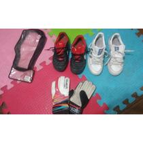Zapatillas Adidas, Botines Nike Y Guante De Arquero