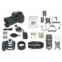 Câmera Digital Profissional Nikon D90 Usada - Kit Completo