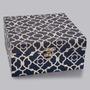 Caixa Blue Quadrada C/ Tampa De Madeira Em Pvc Lyor 3697