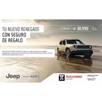 Jeep Renegade Sport + Seguro Gratis 1 Año   Zucchino Motors