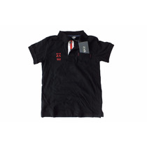 Camisa Infantil Polo Da Zara Masculina Na Cor Preta B2736