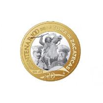 Monedas 20 Pesos Zacatecas 2014 Pancho Villa