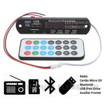 Módulo Mp3 Bluetooth Usb Aux Sd P/ Amplificador Caixa Ativa