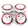 Kit 8 Roda Crème Patins Roller Inline 80mm - Profissional